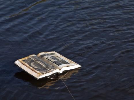 Floating altered books